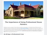 The Importance of Using Professional House Painters