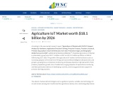 Agriculture IoT Market worth $18.1 billion by 2026