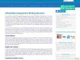 Affordable Assignment Writing Services