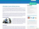 Affordable Custom Writing Services