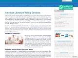American Literature Writing Services