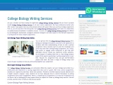 College Biology Writing Services