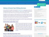 History & Social Care Writing Services