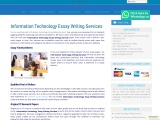 nformation Technology Essay Writing Services