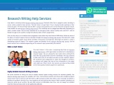 Research Writing Help Services