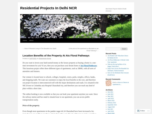 Location Benefits of the Property At Ats Floral Pathways