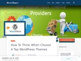 How to Think When Choose a Top WordPress Themes