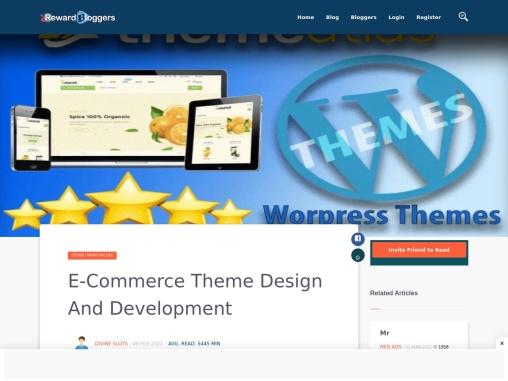 E-Commerce Theme Design And Development