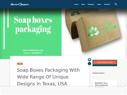 Soap boxes packaging With unique and high quality printing in USA