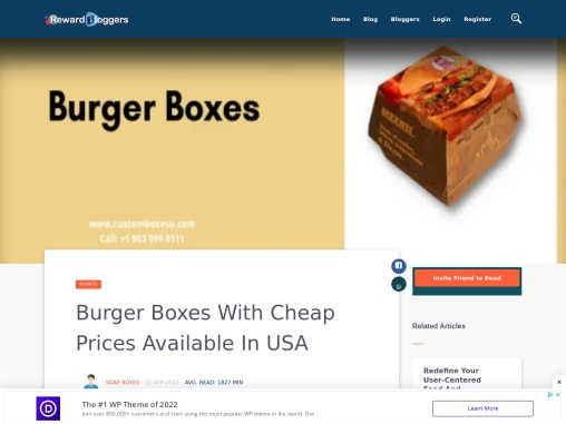Cardboard burger boxes Available in All Sizes & Shapes