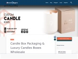 Luxury candles boxes wholesale with cheap prices available in USA