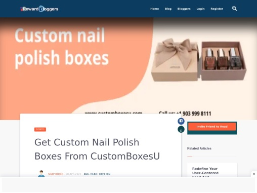 Custom Nail polish boxes quality material in USA