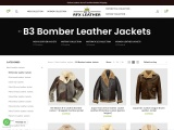 RFXLEATHER has developed a B-3 shearling bomber jacket, patterned after WWII originals, that looks l