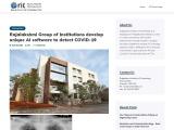 Rajalakshmi Group of Institutions develop unique AI software to detect COVID-19