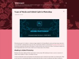 Types of Masks and Global Light in Photoshop