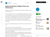 Spoken Word Poetry: A Magic of Poem and Performance!