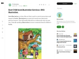 Best child book illustrations services.