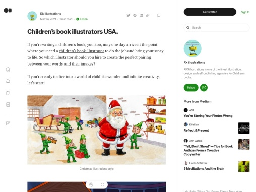 Child book illustrators in USA