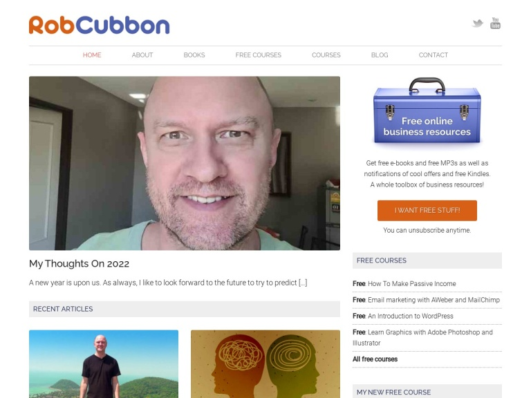 Rob Cubbon Coupon Codes screenshot