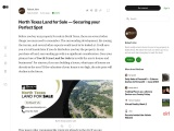 North Texas Land for Sale — Securing your Perfect Spot