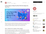 6 Easy Steps to Help You Hire Web Developers In The USA