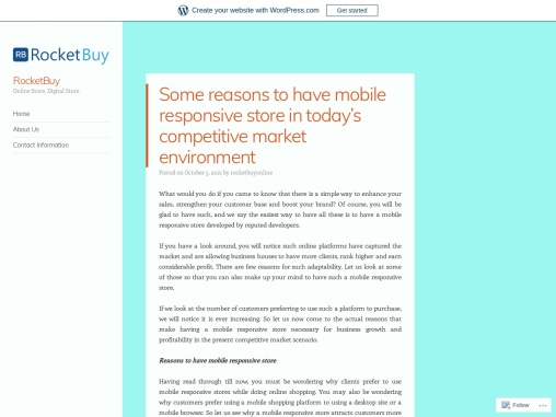 Some reasons to have mobile responsive store in today's competitive market environment