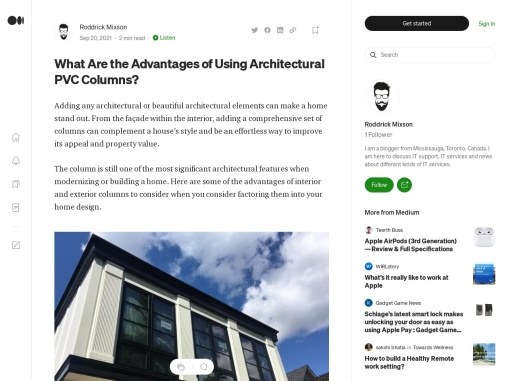 What Are The Advantages Of Using Architectural PVC Columns?