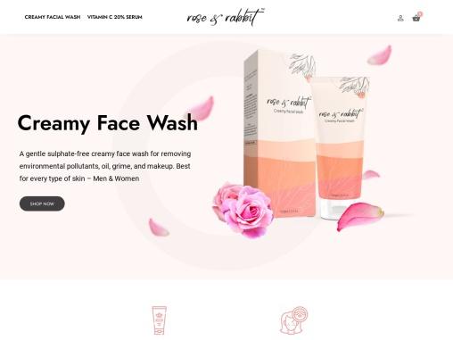 Rose and Rabbit | Creamy Facial Wash