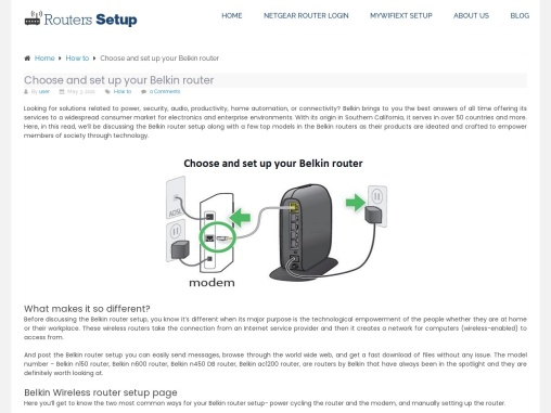 How to setup Belkin router at home ?