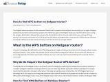 Find WPS Button on Netgear Router