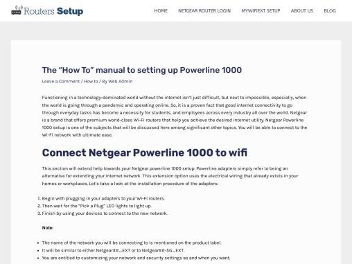 How to Manually setup  Netgear Powerline 1000?