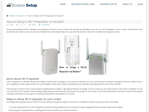 How to setup Wi-Fi repeater on router?