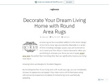 Decorate Your Dream Living Home with Round Area Rugs