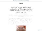 Persian Rugs Very Wise Decorative Investment for your home