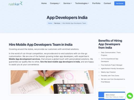 App Developers India – Rushkar