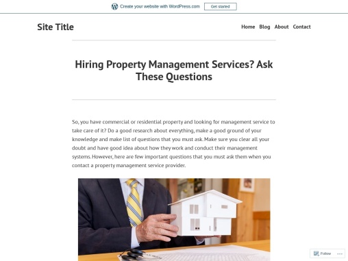 Hiring Property Management Services? Ask These Questions
