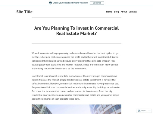 Are You Planning To Invest In Commercial Real Estate Market?