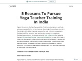 5 Reasons To Pursue Yoga Teacher Training In India