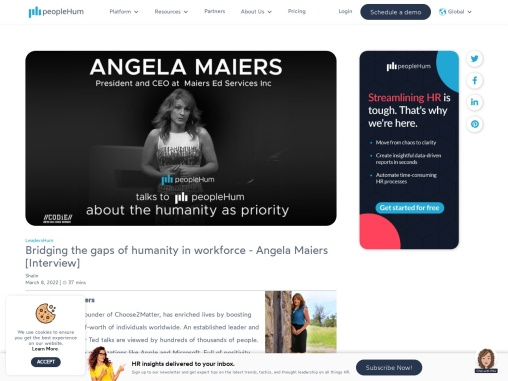 Bridging the gaps of humanity in workforce – Angela Maiers [Interview]