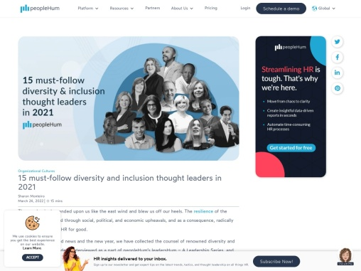 15 must-follow diversity and inclusion thought leaders in 2021