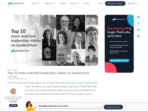 Top 10 most-watched leadership videos on leadersHum