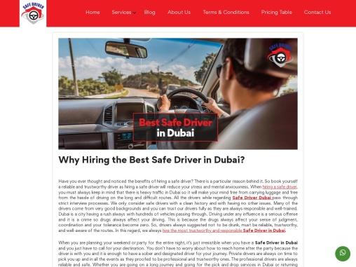 Best Safe Driver in Dubai   SafeDrivers