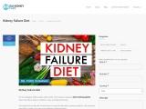 kidney failure diet chart, kidney failure diet