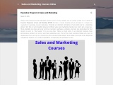 Sales and Marketing Courses Online