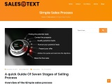 Simple Sales Process UK – SalesText