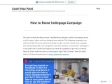 How to Boost Indiegogo Campaign & Samit Max Patel