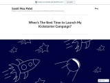 When's The Best Time to Launch My Kickstarter Campaign?