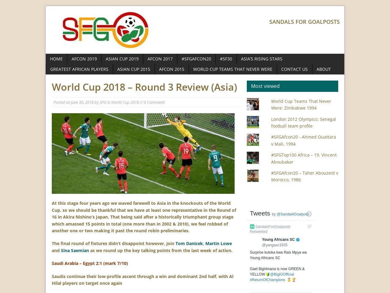World Cup 2018 – Round 3 Review (Asia) – Sandals For Goalposts