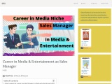 Career in Media & Entertainment as Sales Manager