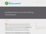 Why QuickBooks Export to Excel Not Working Error Shows Up